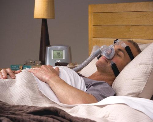 Bild zum Artikel Schlafapnoesyndrom – Abnehmen ist wirksamer als Atemmaske
